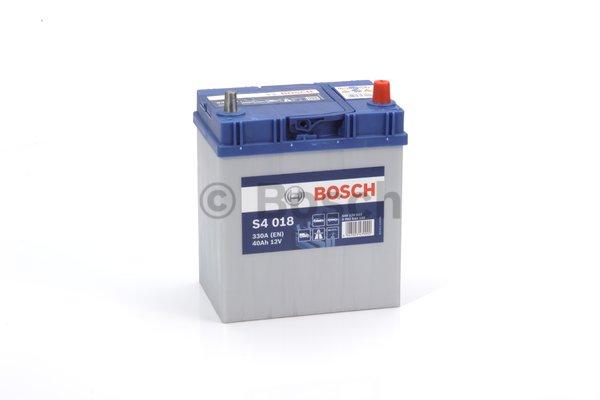 BOSCH Bosch S4 - 12v 40 ah - autó akkumulátor - jobb+ *ázsia*vékonysarus