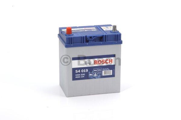 BOSCH Bosch S4 - 12v 40 ah - autó akkumulátor - bal+ *ázsia*vékonysarus