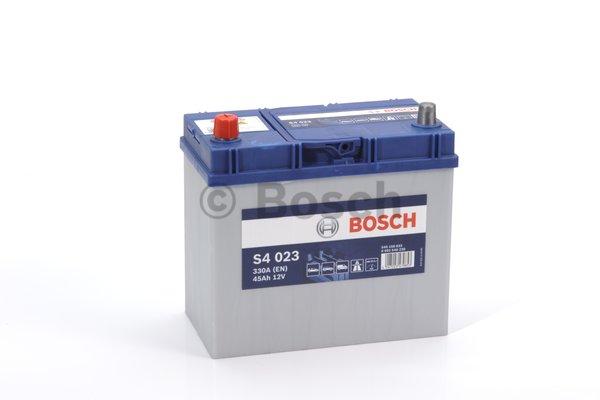 BOSCH Bosch S4 - 12v 45ah - autó akkumulátor - bal+ *ázsia