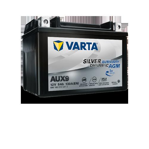 VARTA Varta - 12v 9ah - kiegészítő akkumulátor - bal+ AGM *YTX9 *AUX9