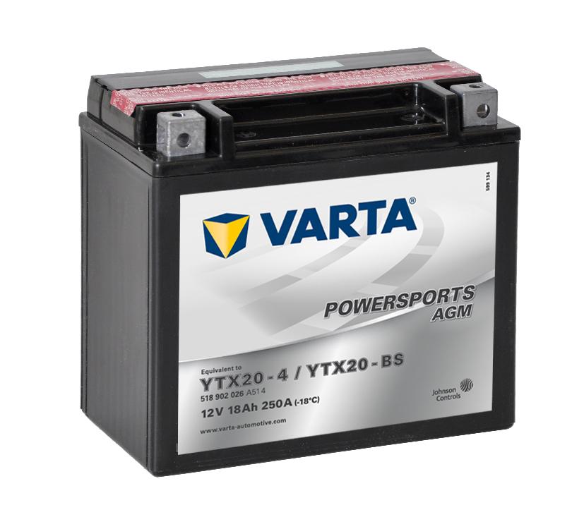 VARTA Varta - 12v 18ah - AGM motor akkumulátor -bal+ *YTX20-BS