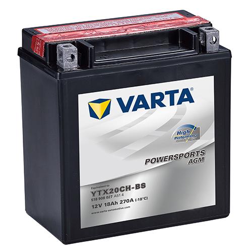 VARTA Varta - 12v 18ah - AGM motor akkumulátor * YTX20YH-BS