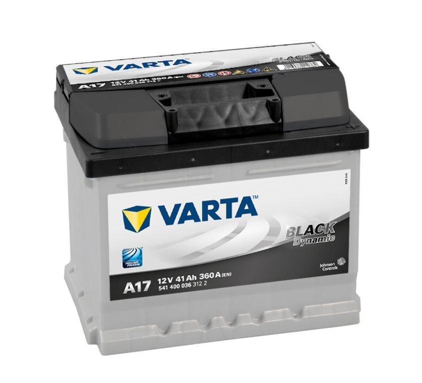 VARTA Varta Black - 12v 41ah - autó akkumulátor - jobb+ *alacsony