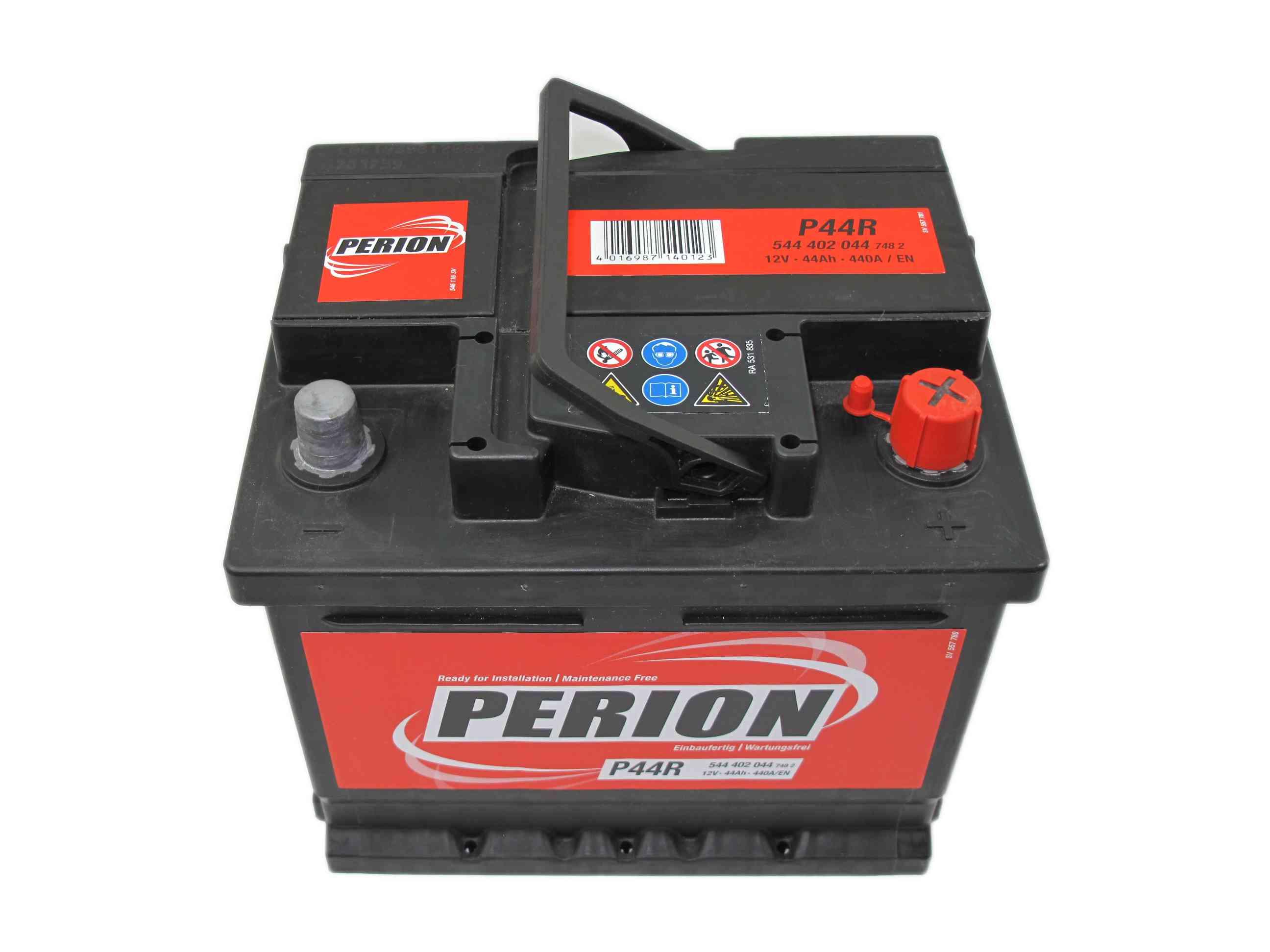 PERION Perion - 12v 44ah - autó akkumulátor - jobb+ *alacsony