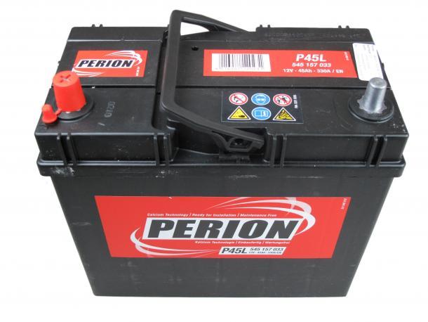 PERION Perion - 12v 45ah - autó akkumulátor - bal+ *ázsia *vékonysarus