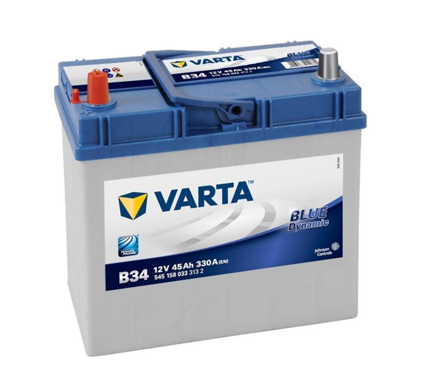 VARTA Varta Blue - 12v 45ah - autó akkumulátor - bal+ *ázsia, vastag sarus