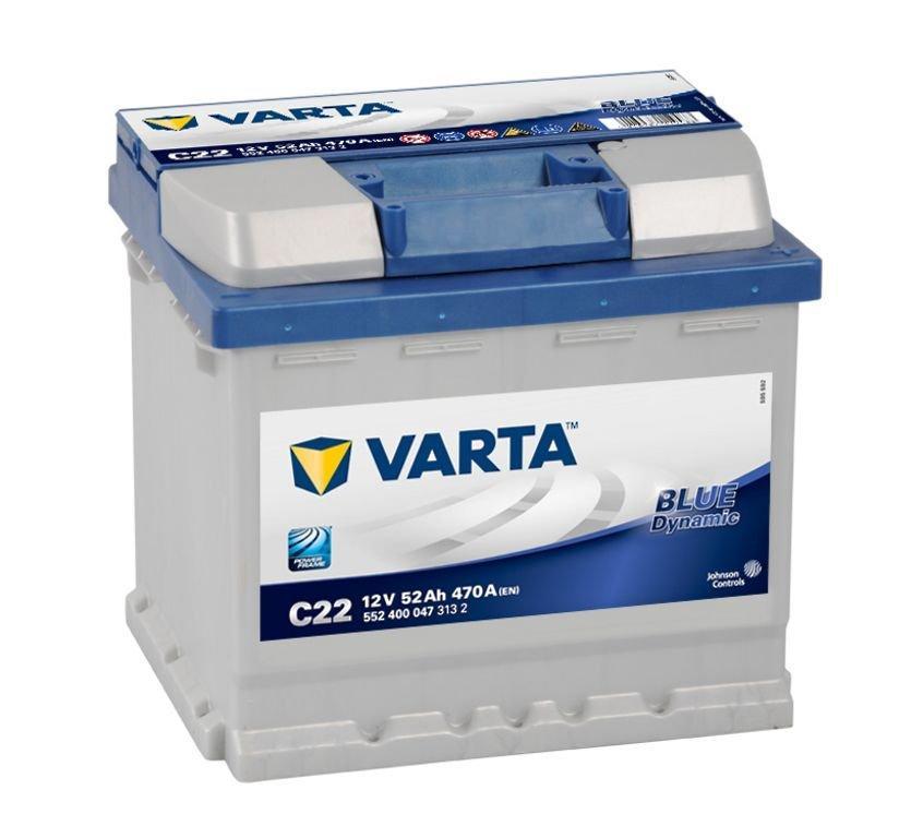 VARTA Varta Blue - 12v 52ah - autó akkumulátor - jobb+