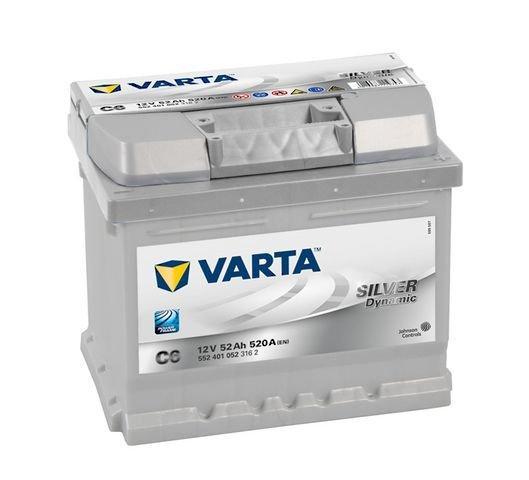 VARTA Varta Silver - 12v 52ah - autó akkumulátor - jobb+ *alacsony