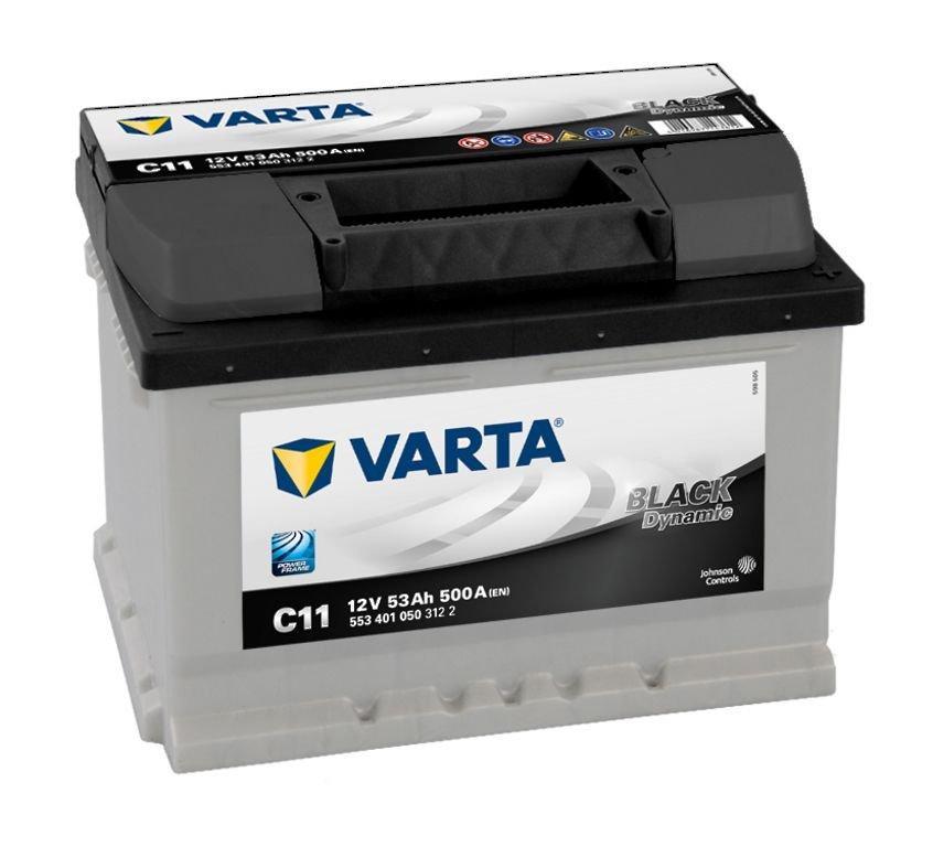 VARTA Varta Black - 12v 53ah - autó akkumulátor - jobb+ *alacsony