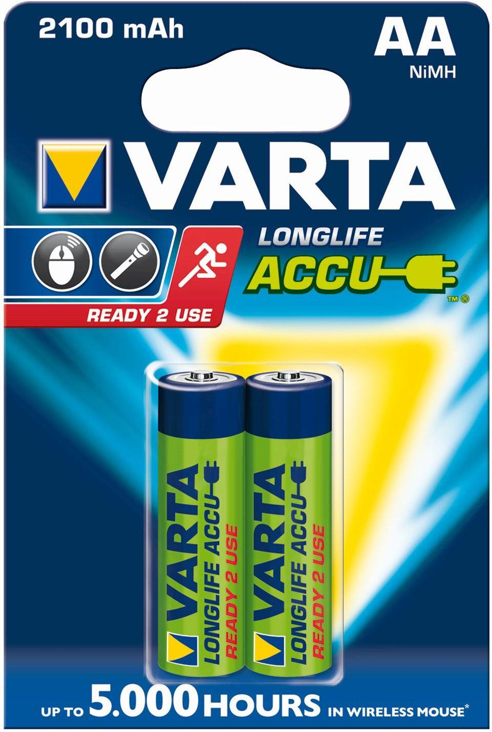 VARTA Elem akkumulátor AA 2100mAh 2db Ready2use