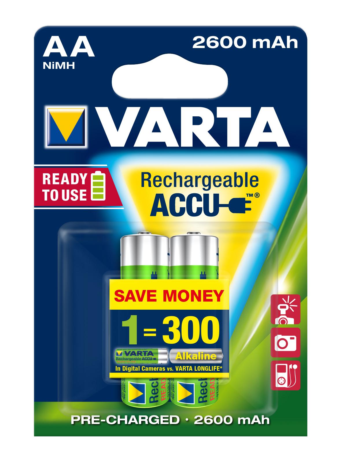 VARTA Elem akkumulátor AA 2600mAh 2db Ready 2 Use