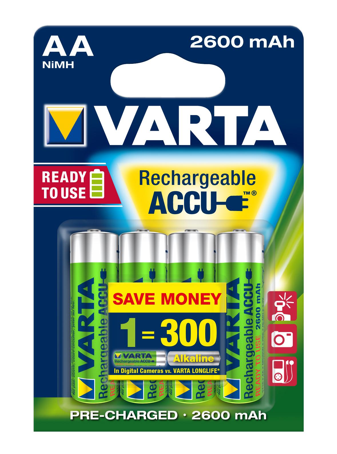VARTA Elem akkumulátor AA 2600mAh 4db Ready to Use