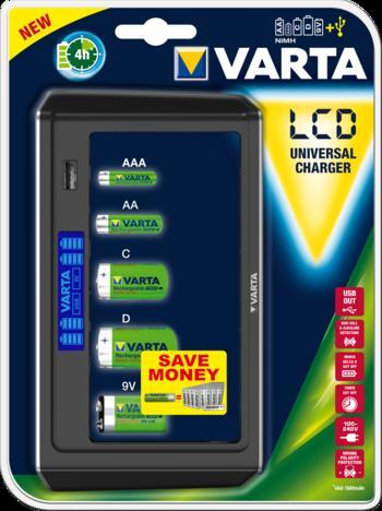 VARTA Elem akkumulátor töltő - LCD  Universal akku nélkül