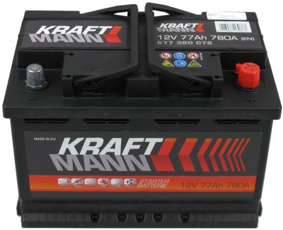 Kraftmann Kraftmann - 12v 77ah - autó akkumulátor - jobb+