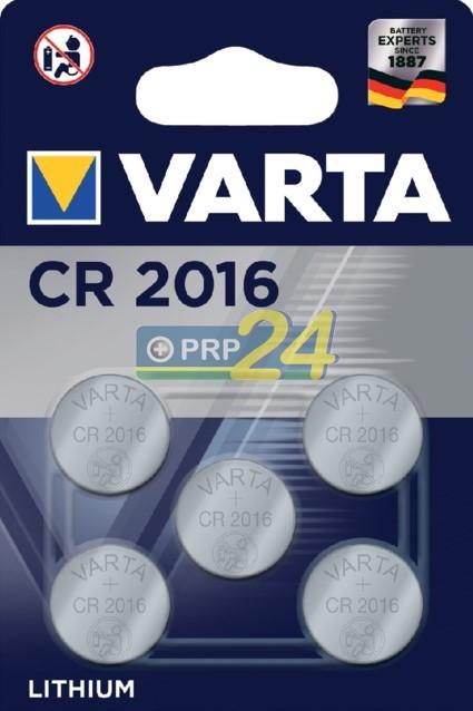 VARTA Elem fotó és kalkulátorelem CR2016 BLI 5