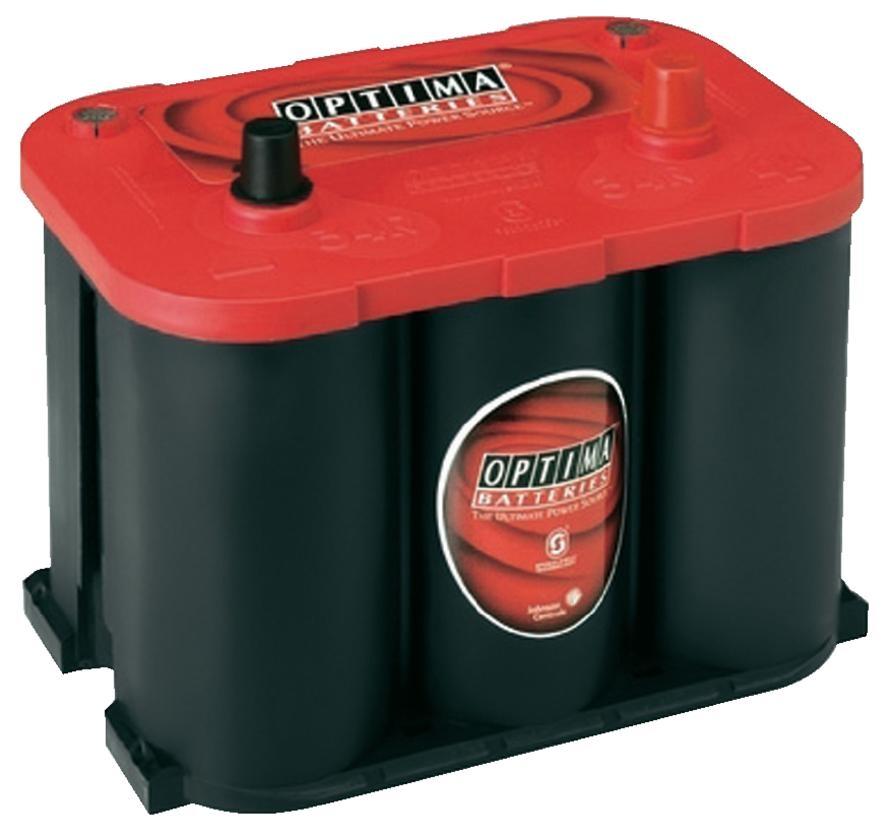 OPTIMA Optima Red - 12v 50ah - autó akkumulátor - jobb+ *R - 4,2
