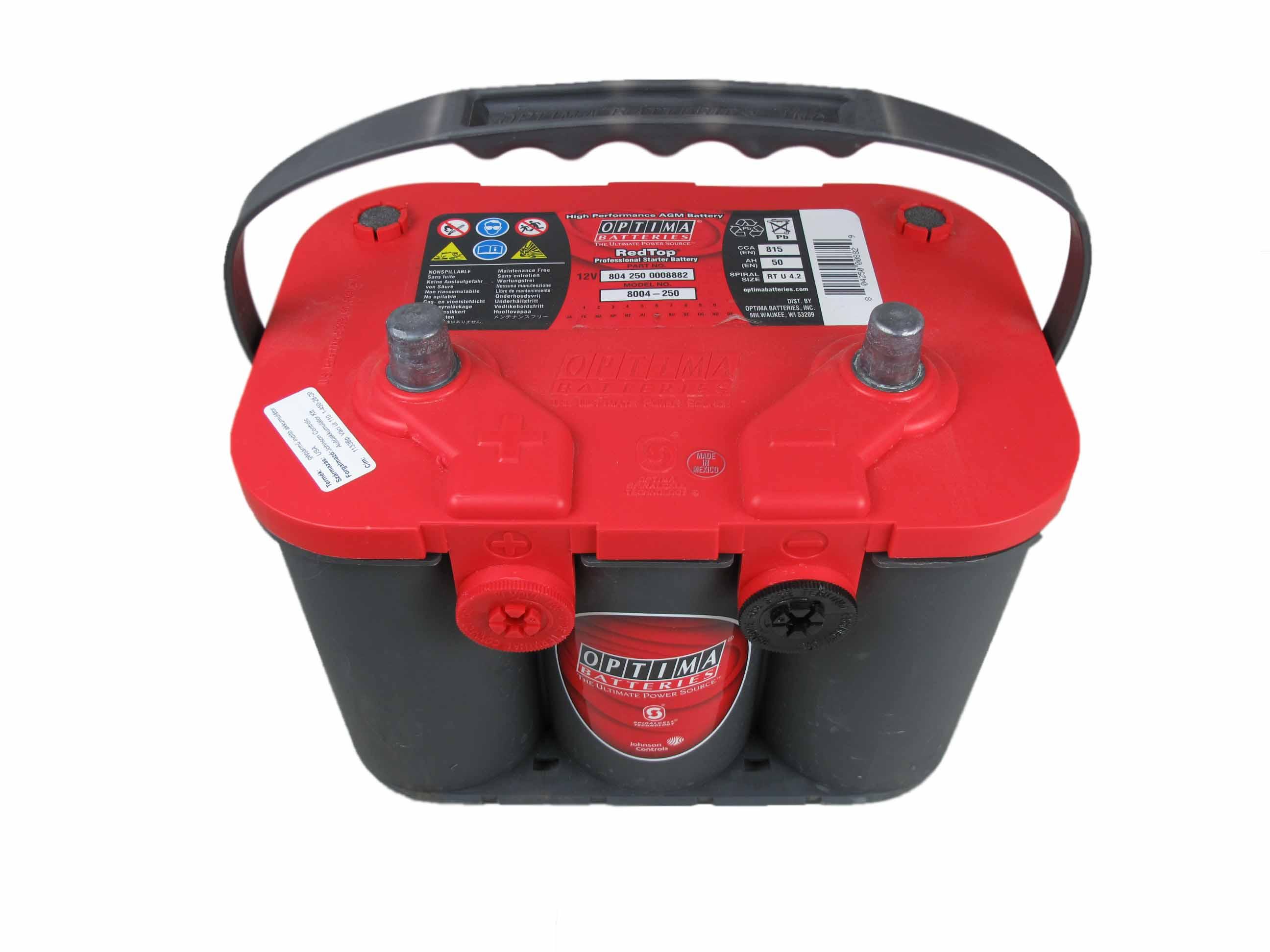 OPTIMA Optima Red - 12v 50ah - autó akkumulátor - bal+ *oldalcsavaros*U - 4,2
