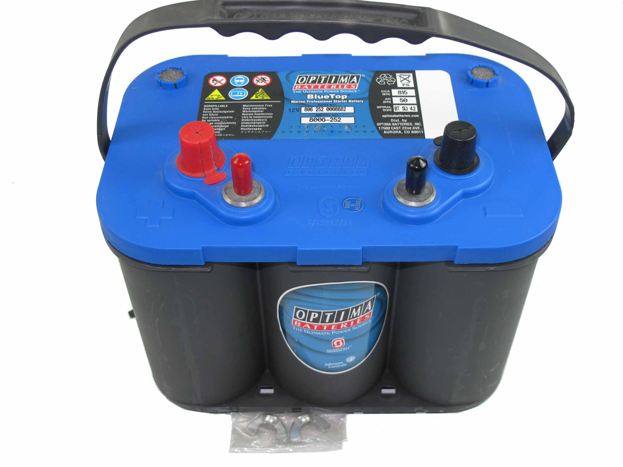 OPTIMA Optima Blue - 12v 50ah - autó akkumulátor - bal+ * csavaros *SLI - 4,2
