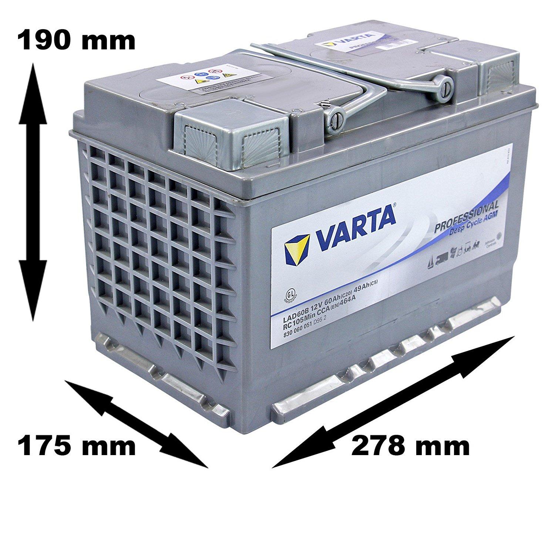 VARTA Varta Professional Deep Cycle AGM - 12v 60ah -  meghajtó akkumulátor - jobb+
