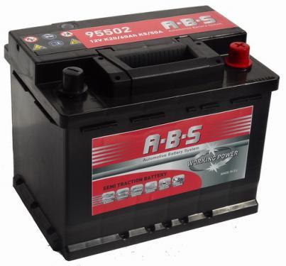 ABS ABS Working Power - 12v 60ah -  meghajtó akkumulátor - jobb+