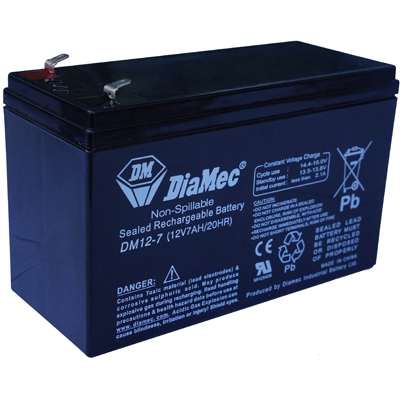 Diamec Diamec - 12V 7Ah - zárt savas akkumulátor