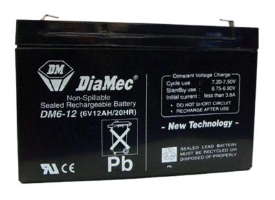 Diamec Diamec - 6V 12Ah - zárt savas akkumulátor