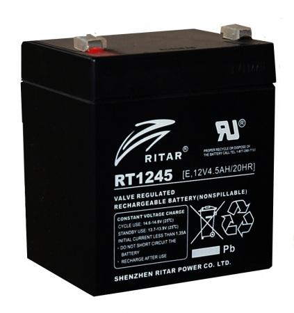 RITAR RT E - 12V 4,5Ah - zárt savas akkumulátor - riasztókhoz