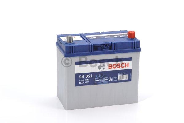 BOSCH Bosch S4 - 12v 45ah - autó akkumulátor - jobb+ *ázsia