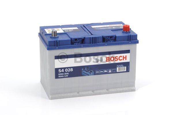 BOSCH Bosch S4 - 12v 95 ah - autó akkumulátor - jobb+ *ázsia