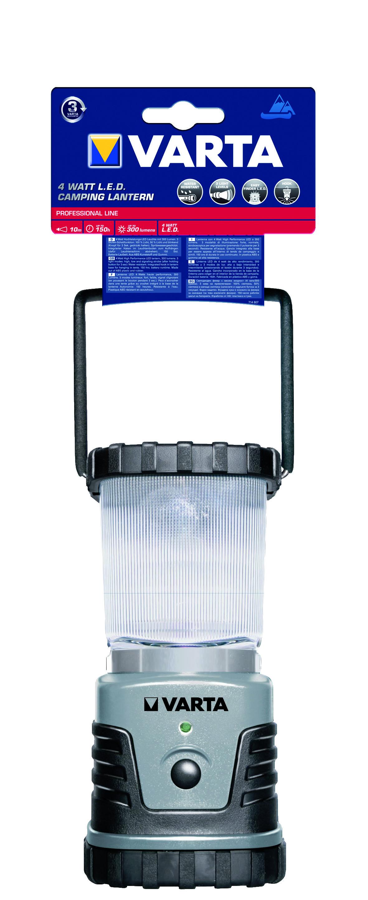 VARTA Elemlámpa - 4W LED CAMPING LANTERN