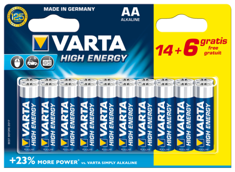VARTA Elem AA 14+6 db High Energy ceruza (LongLife Power)
