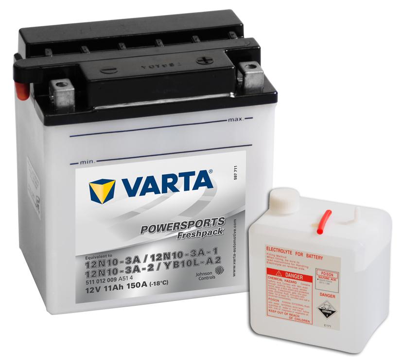 VARTA Varta - 12v 11ah - motor akkumulátor - jobb+ *YB10L-A2