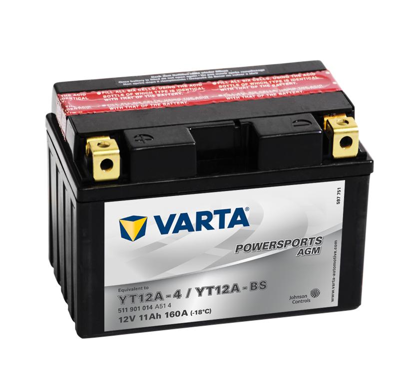 VARTA Varta - 12v 11ah - AGM motor akkumulátor - bal+ * YT12A-BS