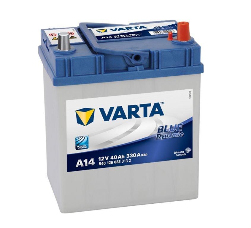 VARTA Varta Blue - 12v 40ah - autó akkumulátor - jobb+ *ázsia*vékonysarus