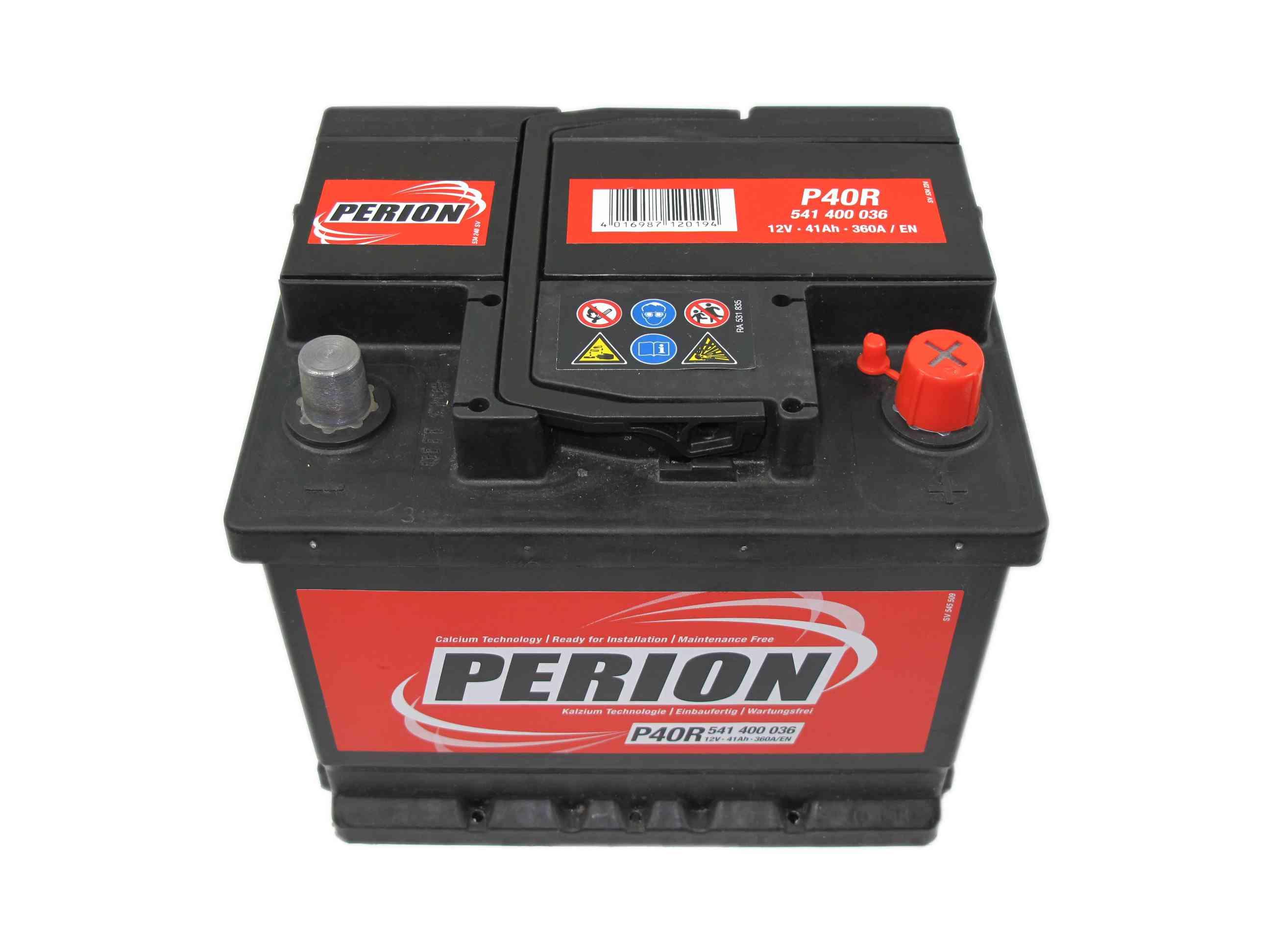 PERION Perion - 12v 41ah - autó akkumulátor - jobb+ *alacsony