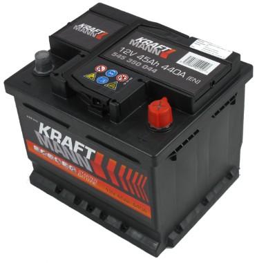 Kraftmann Kraftmann - 12v 45ah - autó akkumulátor - jobb+ *alacsony