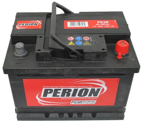 PERION Perion - 12v 53ah - autó akkumulátor - jobb+ *alacsony