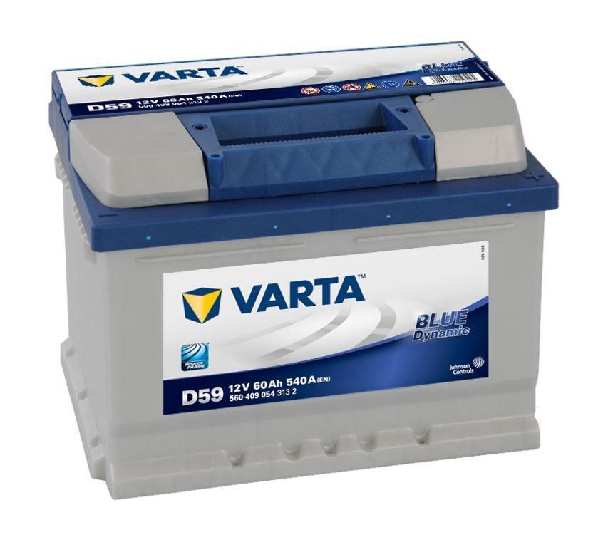 VARTA Varta Blue - 12v 60ah - autó akkumulátor - jobb+ *alacsony