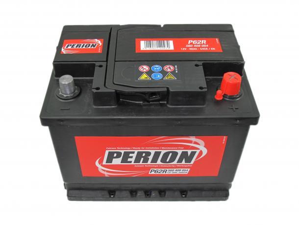 PERION Perion - 12v 60ah - autó akkumulátor - jobb+ *alacsony
