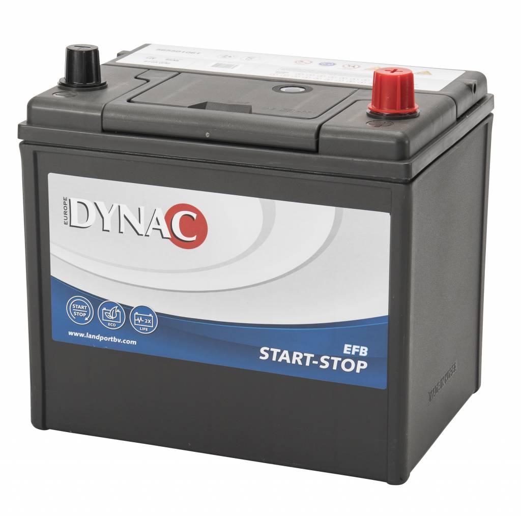 Dynac DYNAC Start-Stop EFB - 12v 65ah - autó akkumulátor - jobb+