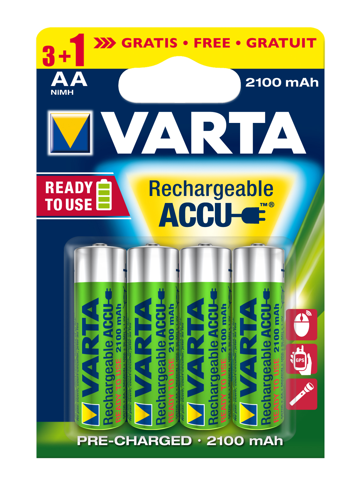 VARTA Elem akkumulátor AA 2100mAh 3+1 db Ready2use