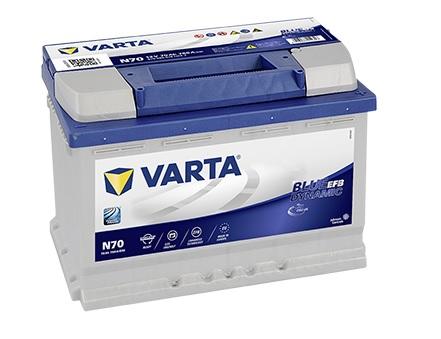 VARTA Varta Blue Dynamic EFB - 12v 70ah - autó akkumulátor - jobb+