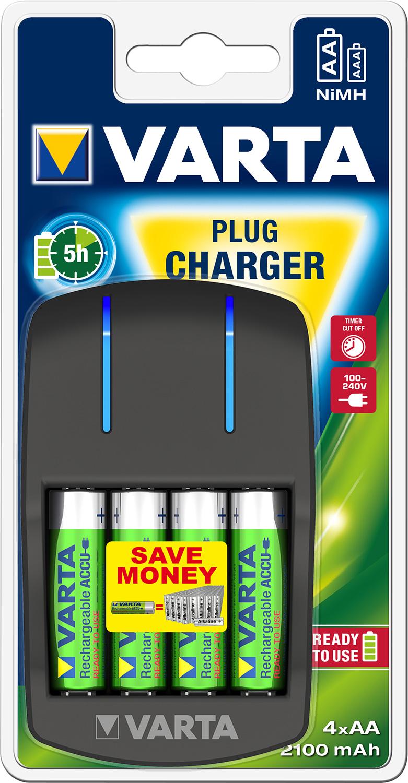 VARTA Elem akkumulátor töltő - Easy Energy Plug + AA 2100 mAh x 4