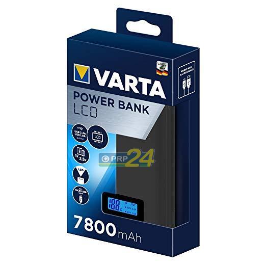 VARTA Powerbank, hordozható energiaforrás 7800 mAh LCD