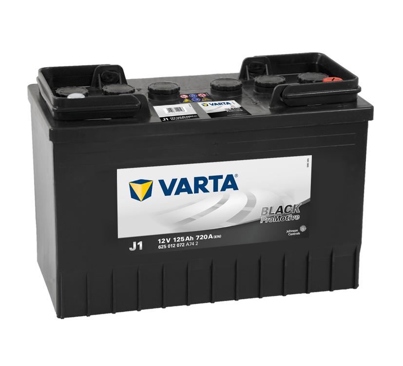 VARTA Varta Promotive Black - 12v 125ah - teherautó akkumulátor - jobb+ Nagy Iveco