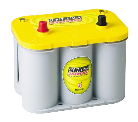 OPTIMA Optima Yellow - 6v 55ah - autó akkumulátor - közép *S - 2,1