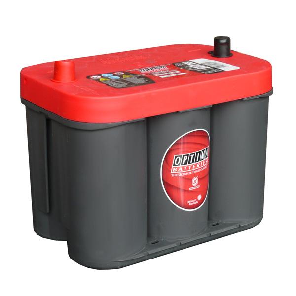 OPTIMA Optima Red - 12v 44ah - autó akkumulátor - bal+ *oldalcsavaros *U - 3,7