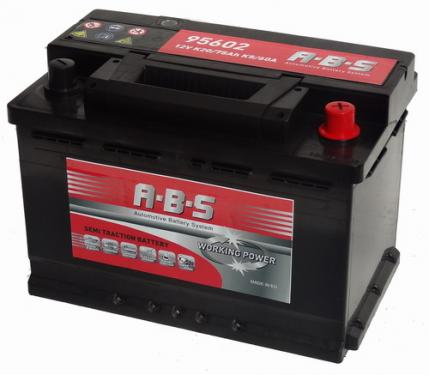 ABS ABS Working Power - 12v 75ah -  meghajtó akkumulátor - jobb+