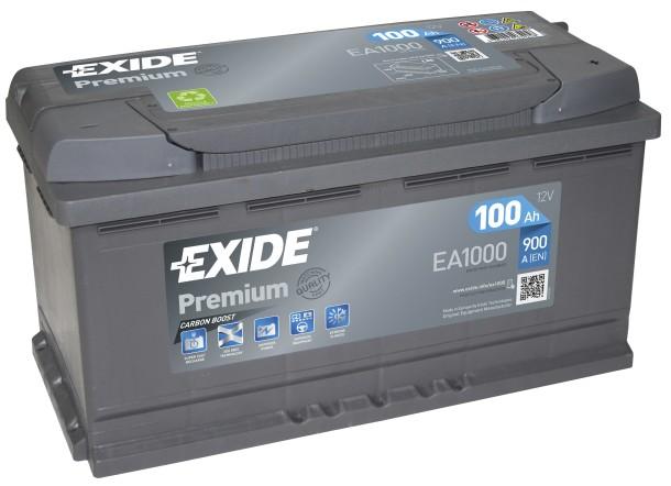 Exide EXIDE Premium 12V 100Ah 900A jobb+ autó akkumulátor