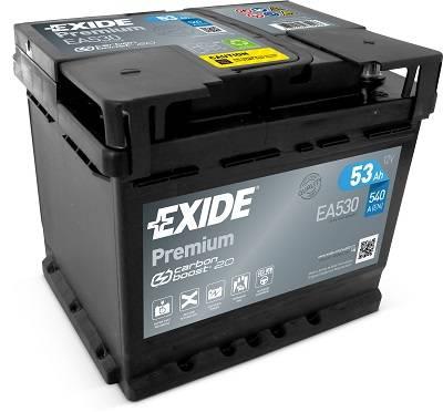 n/a EXIDE Premium 12V 53Ah 540A jobb+ autó akkumulátor